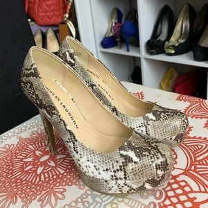 chinese laundry snake print sz 6.5 shoes